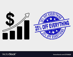 Profit Up Trend Chart Icon And Scratched 25