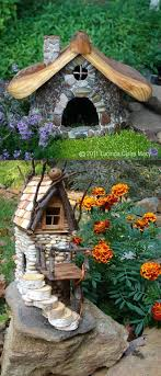 bungalo garden stone toad house fairy house