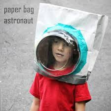 paper bag astronaut helmet costume there is no easier costume than a paper bag mask