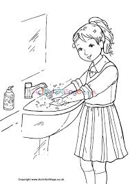 © 2021 super duper® publications. Wash Your Hands Colouring Page