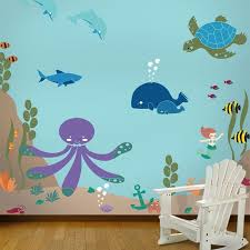 under the sea theme ocean wall mural stencil kit on nursery wall art stencils with wall mural stencil kits nursery wall stencils my wonderful walls