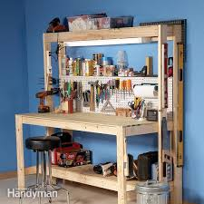 how to build a diy workbench super simple 50 bench the family handyman