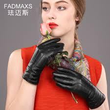 get ations farber maynes ms warm winter gloves leather gloves sheepskin gloves female winter gloves long section