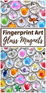 fingerprint art diy glass magnets