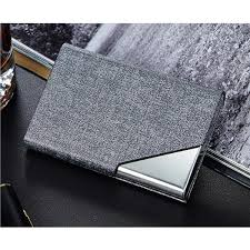 card holder luxury pu leather stainless steel multi card case business name card holder wallet