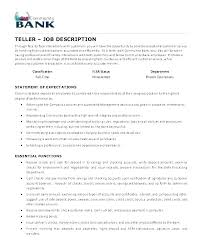 Bank Teller Job Description For Resume Inspiration Teller Job Duties For Resume Teller Job Resume Bank Teller Resumes