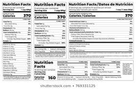 Nutrition Labels Template Nutrition Labeling Stock Vectors Images Vector Art