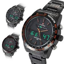 naviforce digital analog led watches stainless steel boys mens naviforce digital analog led watches stainless steel boys mens sport wrist watch
