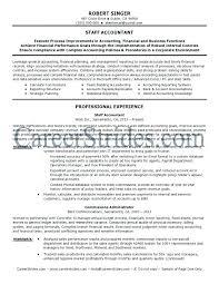 Senior Accountant Resume Accountant Resume Cover Letter Staff Accountant Resume Sample Senior