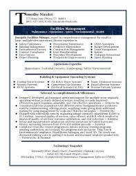 Facility Manager Resume Samples 20 Luxury Operations Manager Resume Badsneaker Net