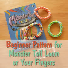 Rainbow Loom Charts Printable Beginner Pattern For The Monster Tail Rainbow Loom Hubpages
