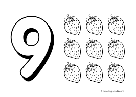 9 numbers coloring pages for kids printable free digits coloring books