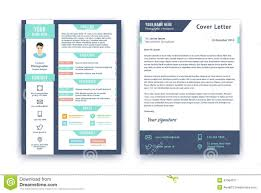 Resume And Cover Letter Template Stock Vector Illustration Of