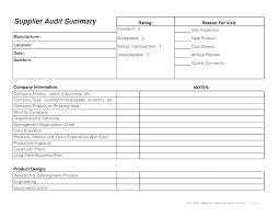 Audit Format Free Download Internal Audit Report Social