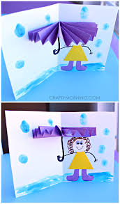 Rainy Day Chart 3d Umbrella Rainy Day Card For Kids To Make Crafty Morning