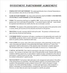 Capital Investment Agreement Template Ghostclothingco