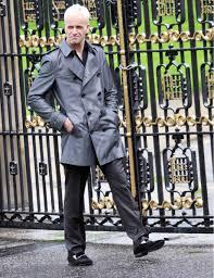 mens grey pea coat
