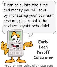 Loan Scheduler Early Loan Payoff Calculator To Calculate Extra Payment Savings