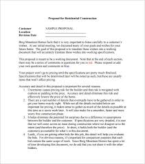 Construction Proposal Format Construction Proposal Templates 100 Free Sample Example Format 17