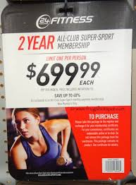 costco 24 hour fitness 2 year all