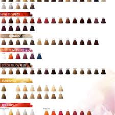 Wella Color Touch Chart 9 Koleston Perfect Professional Hair Color Wella