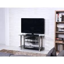 argos black and chrome tv stand tiered tempered glass free