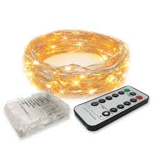 Cheap Fairy Lights Bulk Rtgs 30 Warm White Color Led String Lights Batteries Operated On 10 Feet Long Silver Color Wire Clear Waterproof Batteries Box Remote Control With