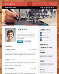 Online Resume Website Examples Self Vcard Theme Builder Top