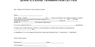 Terminate A Lease Letter Sample Early Lease Termination Letter Format Assignment Point