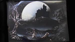 amazing spray painting haunted house
