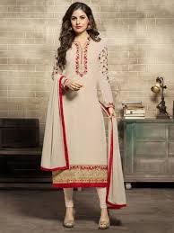 Indian Traditional Salwar Kameez Designs Refined Multicolour Georgette Festival Wear Designer Salwar Suit