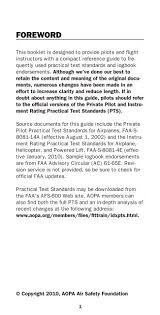 Faa Afs Org Chart Pilots Checkride Guide Aircraft Owners And Pilots Association