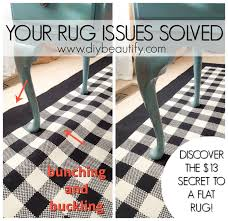 solution for buckling area rugs