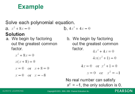 solving polynomial equations factoring example solve each equation solution photo endearing