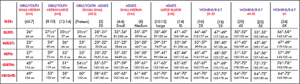 Men S Wearhouse Size Chart 36 Up To Date Girl Body Size Chart