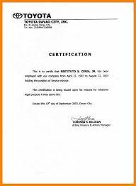 6 Certificate Of Employment Template Word Handyman Resume