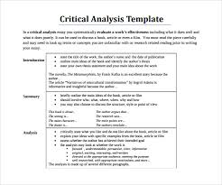 sample critical analysis template documents in pdf critical analysis format template