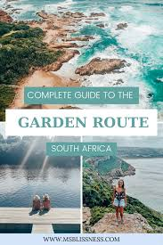 garden route itinerary by a local