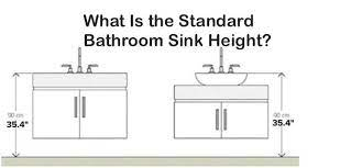 What Is The Standard Bathroom Sink Height