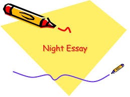 night essay ppt  1 night essay