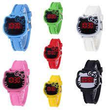 Đồng hồ thời trang trẻ em điện tử led Hello Kitty T474 | Đồng hồ cho bé
