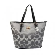 Coach Legacy In Monogram Medium Grey Totes BYU