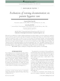 Nursing Documentation Charting By Exception Pdf Evaluation Of Nursing Documentation On Patient Hygienic