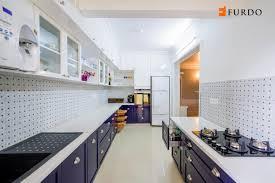 kitchen with white shade interior