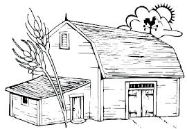 Barn Coloring Pages With Animals Barn Coloring Pages Free With