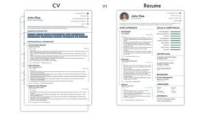 Resume Vs Cv Stunning Cv Vs Resume 28 Ifest