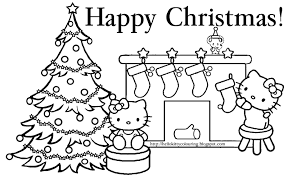 Christmas Kitty Coloring Pages Thanhhoacarcom