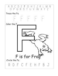 letter f worksheets for kids