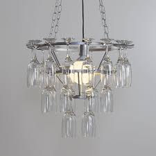 champagne flute bar restaurant ceiling chandelier kitchen silver light litecraft