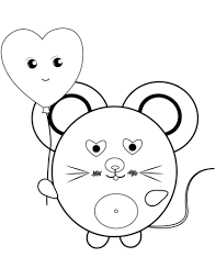Small Picture Kawaii Mouse coloring page Free Printable Coloring Pages